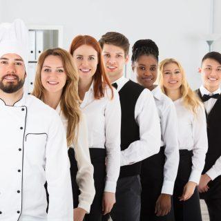 Group Of Confident Multi Ethnic Restaurant Staff